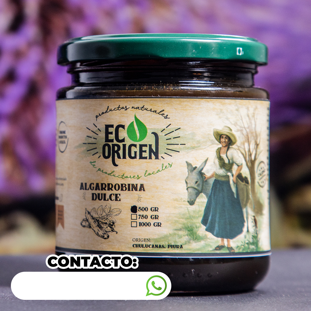 Algarrobina dulce x 500 gr Eco Origen