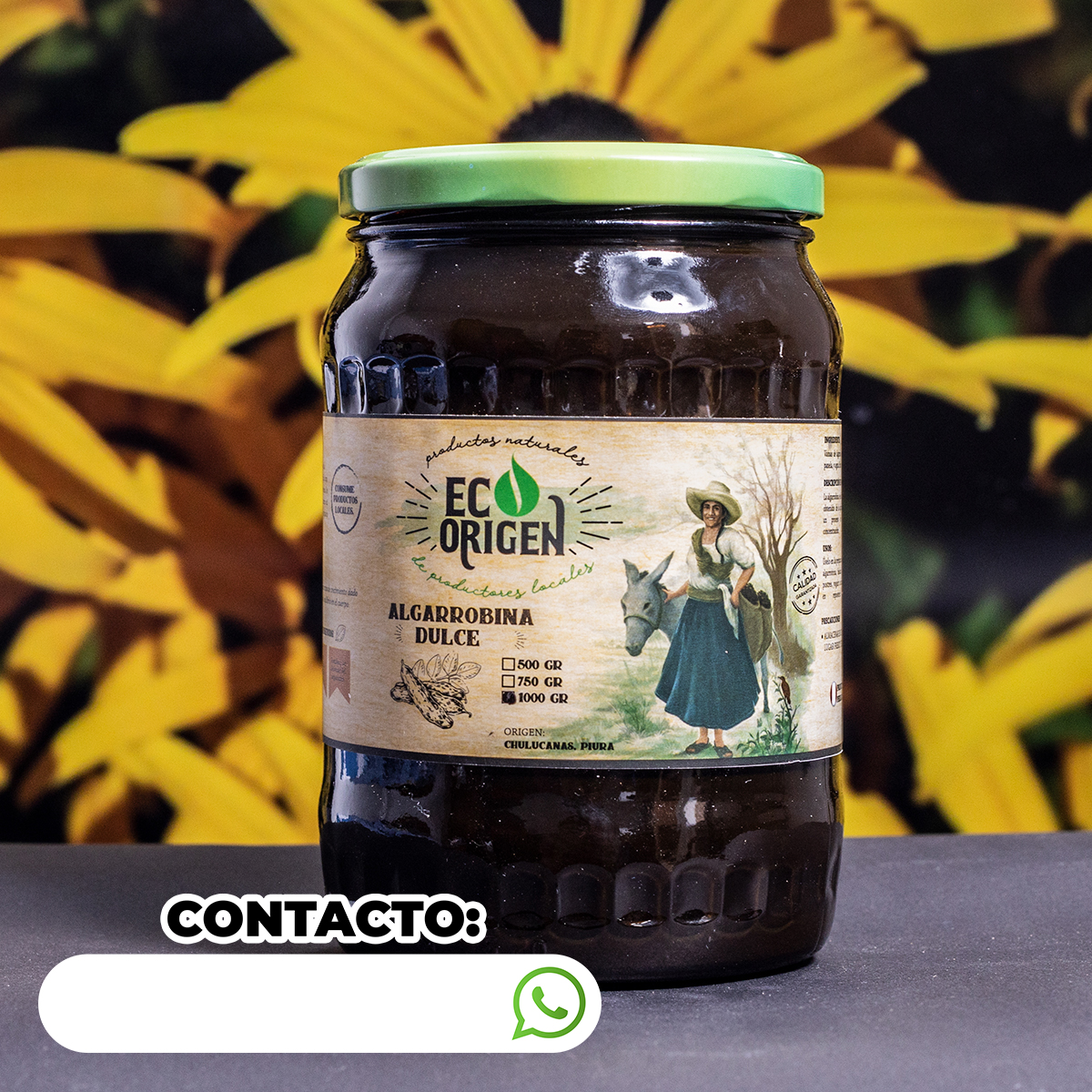 Algarrobina dulce x 1000 gr Eco Origen