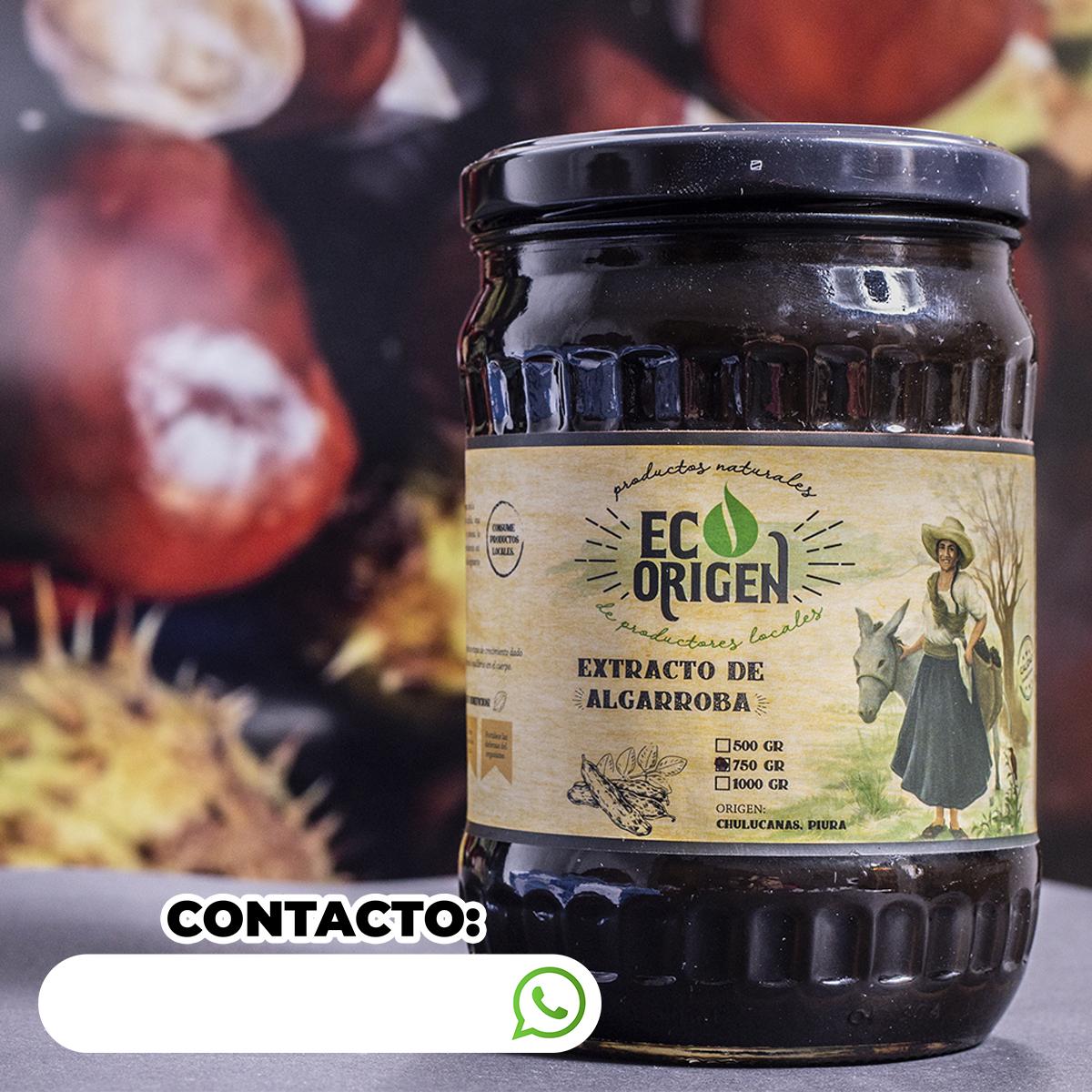 Extracto de algarroba Eco Origen x 750 gr en PNG