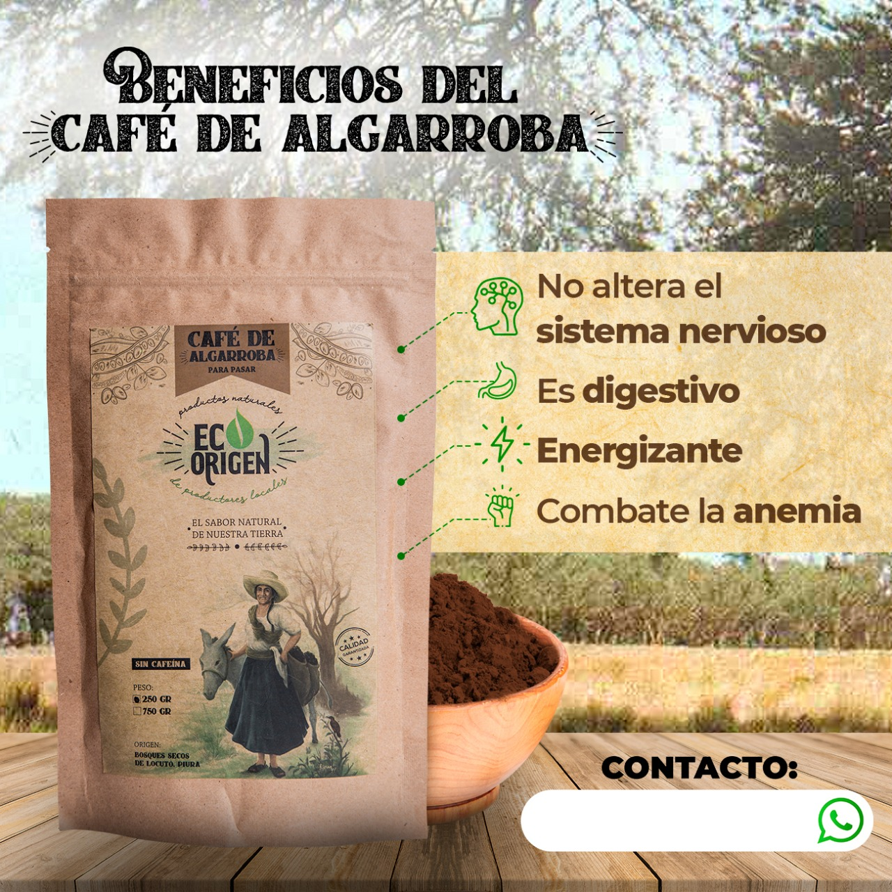 Beneficios del café de algarroba Eco Origen