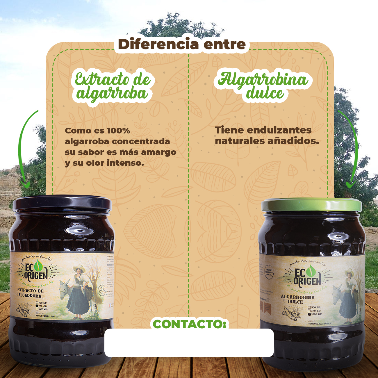 Diferencia entre Extracto de algarroba y Algarrobina dulce