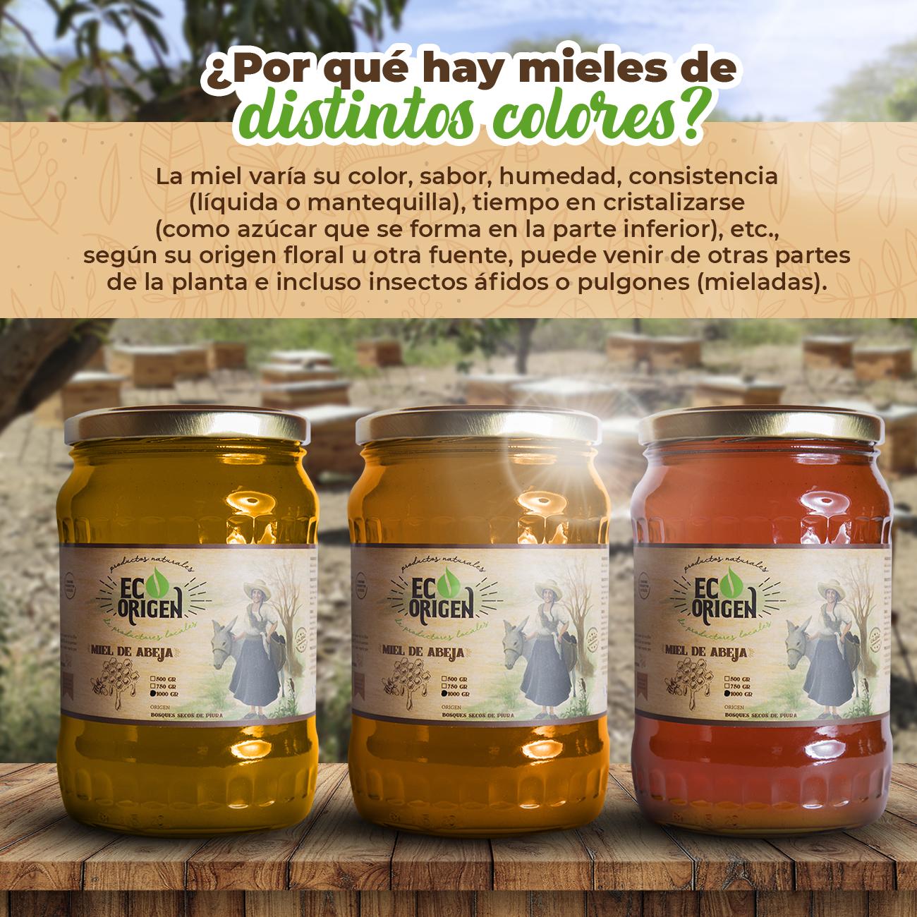 Color de miel de abeja - Eco Origen