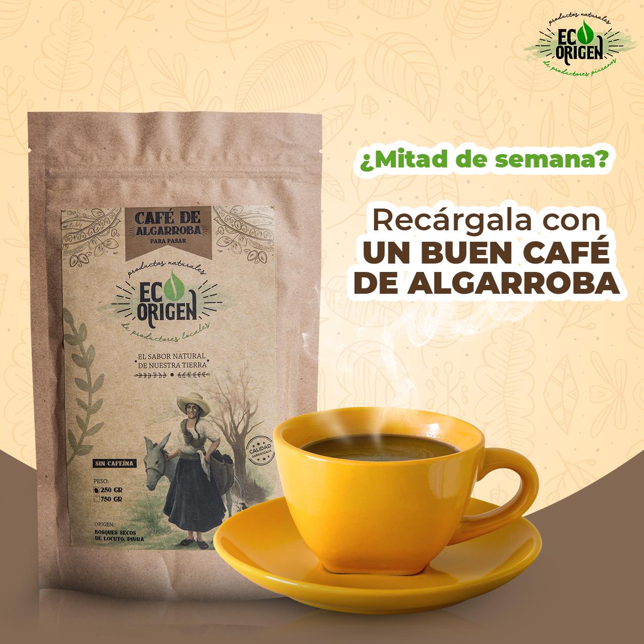 Café de algarroba saludable